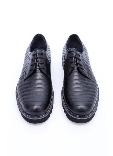 Wessi %100 Deri Bağcıklı Ayakkabı Siyah